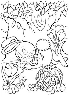 Peter Cottontail Kleurplaten voor kinderen. Kleurplaat en afdrukken tekenen nº 24