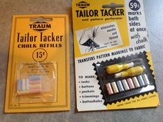 Vintage Tailor Tacker And Pattern by Hannahandhersisters on Etsy