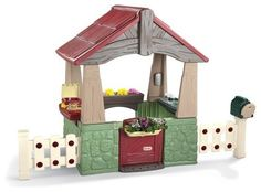 Little Tikes Home & Garden Playhouse - traditional - outdoor playsets - - by Hayneedle