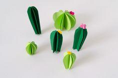 DIY Cactus de papel · DIY Paper cactus · Fábrica de Imaginación · Tutorial in Spanish