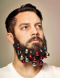 Brillos, guirnaldas y purpurinas para #barbas esta Navidad