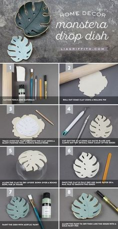 Monstera Drop Dish - Lia Griffith - www.de Monstera Drop Dish – Lia Griffith – www.de … – mypin Monstera Drop Dish – Lia Griffith – www. Craft Gifts, Diy Gifts, Diy Presents, Easy Handmade Gifts, Handcrafted Gifts, Handmade Ideas, Handmade Design, Craft Items, Free Gifts