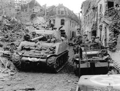 M4 among the ruins of Linnich, Germany