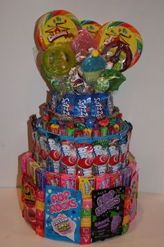 5 Ways to Add Candy To Your Bat Mitzvah Party – Candy Cake Centerpieces by Cover… – Gift Ideas 2019 Candy Birthday Cakes, Candy Cakes, Birthday Fun, Cupcake Cakes, Birthday Parties, 14th Birthday, Birthday Presents, Cupcakes, Candy Arrangements