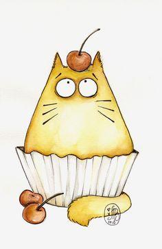 Cup-cat by ~Maria-van-Bruggen
