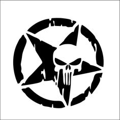 Punisher Skull in Star - Choose your cup and color