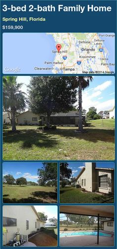3-bed 2-bath Family Home in Spring Hill, Florida ►$159,900 #PropertyForSale #RealEstate #Florida http://florida-magic.com/properties/72267-family-home-for-sale-in-spring-hill-florida-with-3-bedroom-2-bathroom