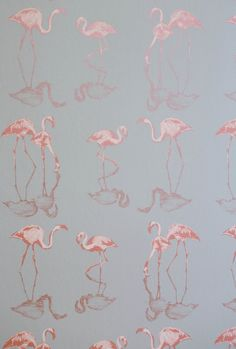 Nakuru 01 Ethnic, Prints, Paper, Wall Coverings by Juliet Travers Luxury Wallpaper, Wallpaper Roll, Designer Wallpaper, Iphone Wallpaper, Custom Wallpaper, Flamingo Wallpaper, Flamboyant, Gray Background, Color Themes