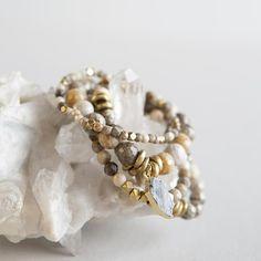 Birthstone Bracelet Super delicate Dainty Sterling silver satellite chain bracelet with semi-precious birthstone the perfect gift.