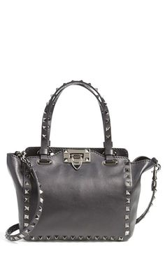 Valentino 'Micro Mini Noir' Calfskin Leather Tote available at #Nordstrom