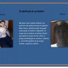 El significado de un Nombre Antes Ahora Me llamo Juan Andrés Castello, me pusieron ese nombre porque mi papá se llama Juan y Andrés porque les gustó como qu. http://slidehot.com/resources/la-importancia-de-un-nombre.26466/