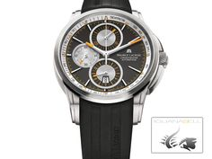 New Maurice Lacroix Pontos Automatic Chronograph watches to buy online and on sale at discount prices. - Page 1 Gents Watches, Watches For Men, Relojes Maurice Lacroix, Tag Heuer, Automatic Watch, Luxury Watches, Fashion Watches, Black, Paris