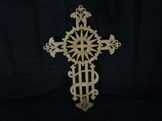 """celtic cross. made from 1/4"""" birch..has a golden oak finish & a lacquer finish. You can visit my shop @ etsy.com DavesSawdustFactory. Thank you"""