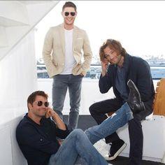 Jensen Ackles, Jared Padalecki, and Misha Collins.
