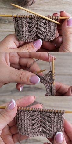 Edge Border Knit Pattern Vest Blouse and Cardigan Model - Anlatımlı Örgüler Knitting Stiches, Easy Knitting Patterns, Free Knitting, Baby Knitting, Crochet Patterns, Diy Crafts Knitting, Diy Crafts Crochet, Knitting Projects, Crochet Motifs