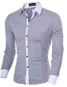 Camisa De Hombres #VSKA #ButtonFront