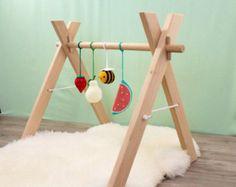 SOFORT LIEFERBAR aus Holz Baby Gym-Rahmen Play von LanaCrocheting