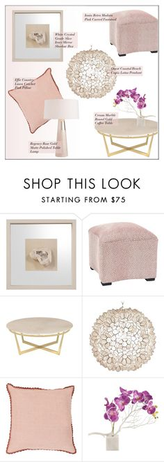 """Girly Home Decor"" by kathykuohome ❤ liked on Polyvore featuring interior, interiors, interior design, home, home decor, interior decorating, livingroom, Pink, Home and girlydecor"
