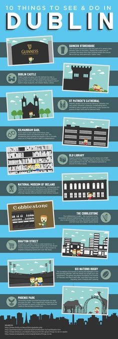 Infographic: 10 Things To See And Do In Dublin #infographic
