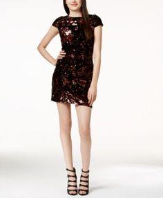 Vince Camuto Cap Sleeve Sequin Dress | macys.com