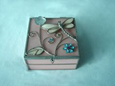 Stained Glass Pink Jewel Box& Decoration Box - Buy Glass Box ...