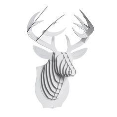 Trophée - Tête de cerf grand modèle - Blanc