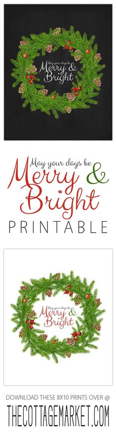 Free Holiday Printables that will look amazing in your home!