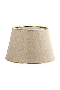 METAL TRIM COTTON TAPERED LAMP SHADE R259.99