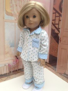 Handmade 18 inch Doll Clothes Fit American Girl - Pajamas and Slippers
