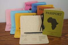 Passport Invitation, via Etsy, for an adoption shower OMG this is the coolest idea ever.