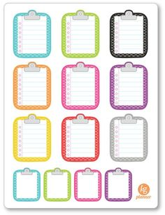Clipboard Scale Pattern To Do List Planner Stickers
