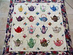teapot quilt | teapot quilt - tablecloth perhaps