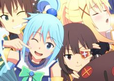 Aqua, Kazuma, Megumin  Darkness - Konosuba!