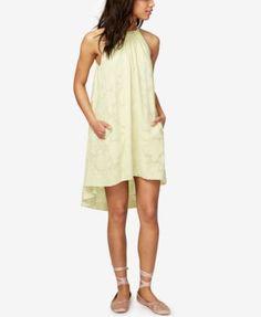 Rachel Rachel Roy Jacqueline Cotton High-Low Shift Dress, Only at Macy's - Yellow XXL