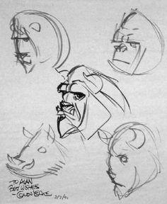 """very telling """"Beast"""" concept art by Glen Keane"""