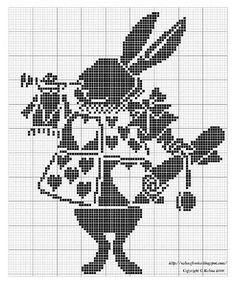 White Rabbit cross stitch