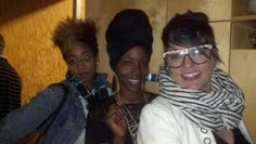 """Lots of """" Hair Tude"""" going on at recording Artist Dwele's loft..tonight"""