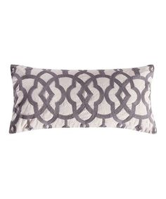 Love this Gray Lattice Throw Pillow on #zulily! #zulilyfinds