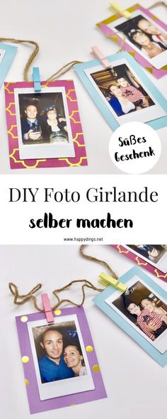 Make DIY photo gifts yourself- {Advertising} Make a photo garland yourself. Make beautiful photo gifts quickly and easily. Creative DIY ideas for photo gifts to make yourself. Sweet gift ideas for mom, boyfriend or best friend. Coworker Birthday Gifts, Birthday Gifts For Best Friend, Diy Gifts For Friends, Diy Gifts For Kids, Easy Diy Gifts, Gifts For Coworkers, Best Friend Gifts, Girlfriend Birthday, Diy Photo