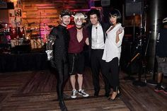 Chris Colfer, Will Sherrod, Matthew Morrison and Renee Morrison at Matthew Morrison's 5th Annual Halloween Party on October 25, 2014