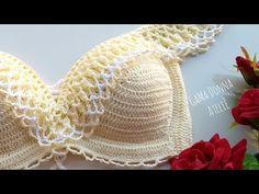 Baby clothes blanket stitches Ideas for 2019 Crochet Lovey Free Pattern, Crochet Bikini Pattern, Crochet Diagram, Free Crochet, Crochet Patterns, Crochet Bra, Crochet Crop Top, Crochet Slippers, Crochet Clothes
