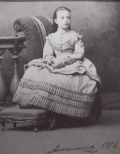 "Grand Duchess Anastasia Mikhailovna Romanova of Russia in 1874. ""AL"""