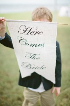 this is so cute, attach to bottom of ring pillow, or have one of the flowergirls hold this