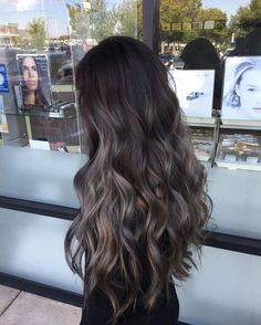 Stunning Hair Color Ideas For Long Hair Styles In 2019 Looking for the top spring hair colors? hair color trends for the top spring hair colors? Ombre Hair Color, Hair Color Balayage, Brown Hair Colors, Hair Highlights, Ash Brown Hair Balayage, Ash Brown Highlights, Long Hair Colors, Cool Tone Brown Hair, Ash Brown Ombre