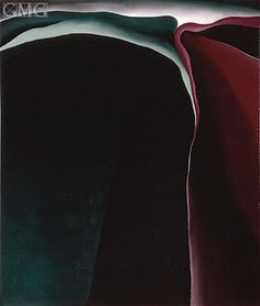 Dark Abstraction 1924 Georgia O'Keeffe (1887-1986)