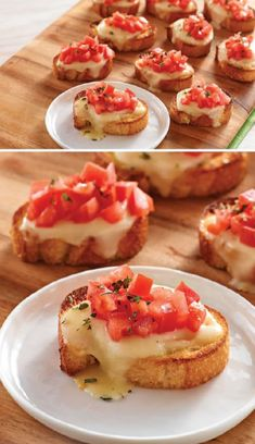 Make this classic Mozzarella Bruschetta for your next party! Each tasty bite of this Mozzarella Bruschetta is filled with cheese, tomato and oregano.