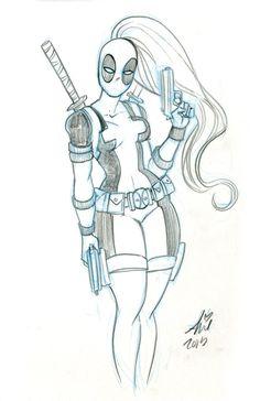 Lady Deadpool by mainasha