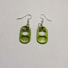 Can Tab Earrings  {Lime Green Monster}