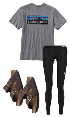 """""""Untitled #120"""" by ahnabutler on Polyvore featuring Patagonia, NIKE and Birkenstock"""