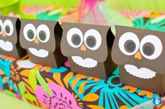 Owl party/favour bag ideas for birthdays or parties